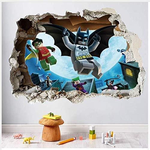 Wandaufkleber DIY Lego super Heros gebrochen wandaufkleber für Kindergarten kinderzimmer Dekoration 3D Mural Film Kunst PVC abziehbild 60x90 cm