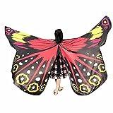 Xmiral Niñas Chal de Alas de Mariposa Impermeable para Baile Danza Chicas Duendecillo para Disfraz Fiesta Carnaval(235 * 170cm,Amarillo)