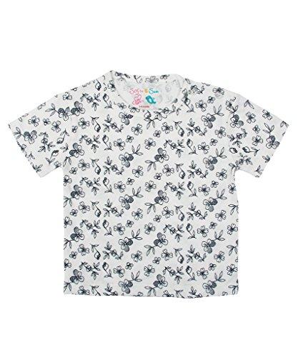 Sofie & Sam London, Baby Tee T-Shirt Top made from Organic Cotton, Flower Black