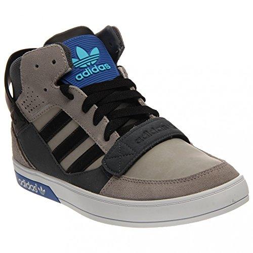 Adidas Corte dura Defender di pallacanestro della scarpa da tennis - alluminio / nero / scuro Onix -
