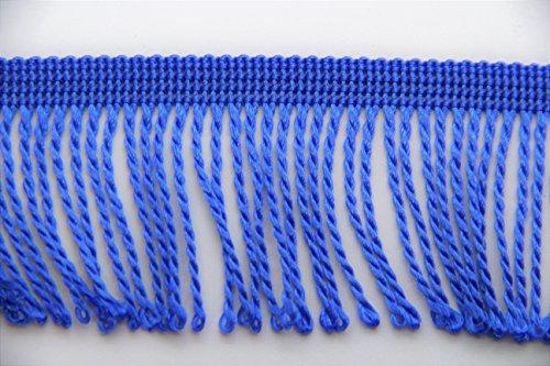 NTS Nähtechnik Fransenborte - 60mm Breite - Farb- und Längenwahl - (blau, 1)