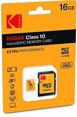 Kodak Extra 16 GB Class 10 MicroSD Card with Adapter