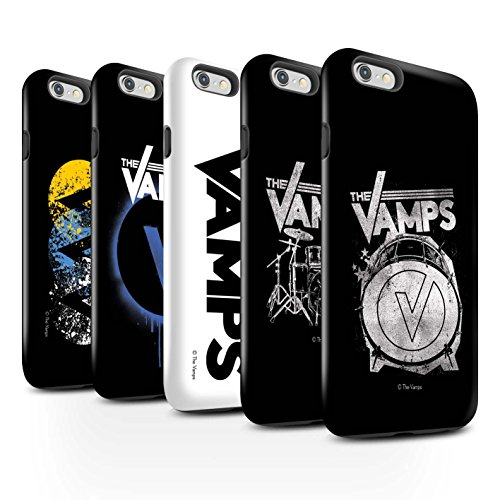 Offiziell The Vamps Hülle / Glanz Harten Stoßfest Case für Apple iPhone 6 / Pack 6pcs Muster / The Vamps Graffiti Band Logo Kollektion Pack 6pcs