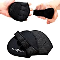 NH Best Workout Gloves Alternative | Weight-Lifting Gym Training Anti-Slip Barehand Alpha Grip Pads | Support Power-Lifting, Body-Building, Fitness for Men & Women (Black, M)