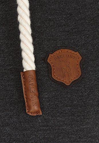 Naketano Female Zipped Jacket F... Me 2 Times! Anthracite Melange