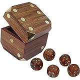 Würfelspiele für die Familie Reisespiel Spielesammlung Mit 5 Würfeln Geschenke Set