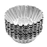 Cupcake-Förmchen / Pudding-Förmchen, 25Stück, 7cm, Aluminiumfolie