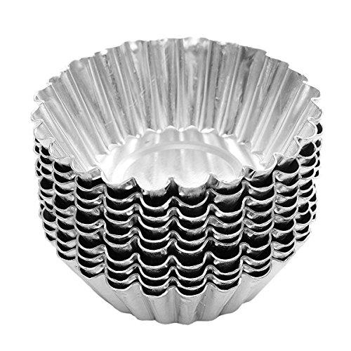 25PCS 7cm Aluminium Folie Ei Tarteform Pie Muffin Cupcake Pudding Schöpfern Form Fällen Dose Pfannen Teller