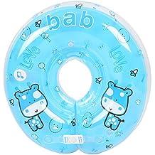 Anillo flotador inflable para bebé, cuello ajustable de seguridad para natación, ...