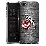 DeinDesign Apple iPhone 5 Silikon Hülle Case Schutzhülle 1. FC Köln Metall Look Fussball