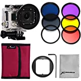 XCSOURCE® 58mm Adapter + 6 pcs Filter (Rot + Gelb + lila + UV + CPL + ND4) für Gopro Hero 3 LF365