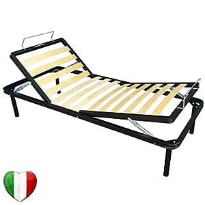 lit 80 x 190 cm 1 place avec sommier lattes inclinable. Black Bedroom Furniture Sets. Home Design Ideas