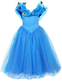 ELSA & ANNA® Princesa Disfraz Traje Parte Las Niñas Vestido (Girls Princess Fancy Dress