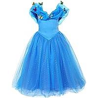 ELSA & ANNA® Princesa Disfraz Traje Parte Las Niñas Vestido (Girls Princess Fancy Dress) ES-FBA-CNDR4 (8-9 Años, ES-CNDR4)