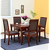 WOODEN PROPs Four Seater Dining Table & Chairs