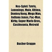 Nes-Spiel: Tetris, Lemmings, Mule, Ultima, Donkey Kong, Mega Man, Indiana Jones, Pac-Man, Kirby, Super Mario Bros, Castlevania, Metroid