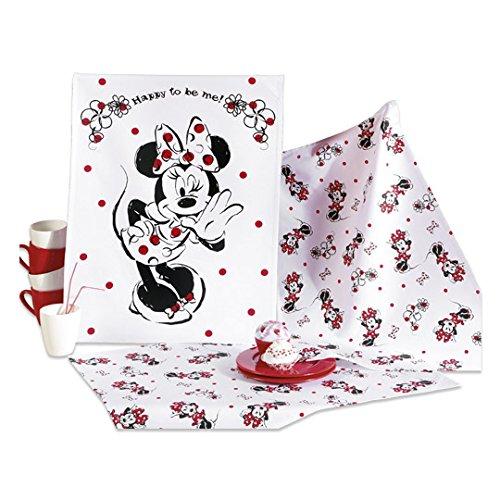 Disney 3 Geschirrtücher mit Minnie Maus (Micky Maus) ca. 50 x 70 cm 100% Baumwolle