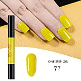 FOONEE 3 in 1 Penna Smalto per Unghie, One Step Penna per Smalto per Unghie Gel No Base Top Coat Bisogno, impregnare di UV LED Smalto per Unghie Nail Art Kit