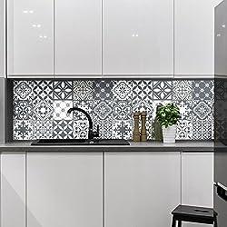 Carreaux de ciment adhésif mural - azulejos - 10 x 10 cm - 15 pièces