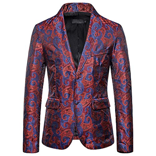 LIMITA Herren Herbst Winter Blazer Lässige Jacke mit Golddruckknöpfen Langarm-Manteloberteil Herren Slim Fit Blazer für Business/Party/Hochzeit