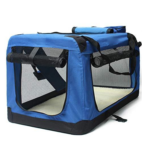 Pet Car Seat Cover - Hundekäfig Auto Kennel Outing Tragetasche Tasche Pet Supplies,Blue,82 * 59 * 59cm (Blue Auto Seat Covers)