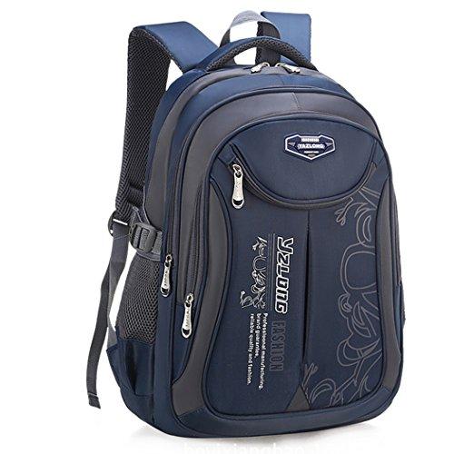 Schulrucksack Jungen, Fanspack Schulranzen Jungen Teenager 5. klasse Schultaschen Casual Daypack Travel Rucksäcke