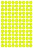 234 Klebepunkte, 20 mm, Neon gelb, aus PVC Folie, Markierungspunkte, Punkt, Vinyl, leuchtend, rund, selbstklebend