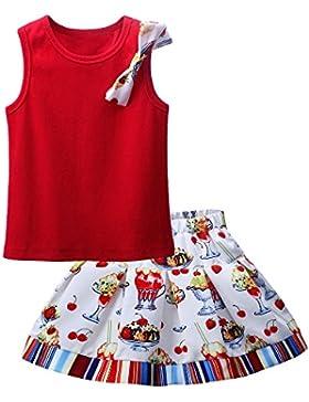 Lajinirr - Vestido - trapecio - Sin mangas - para niña