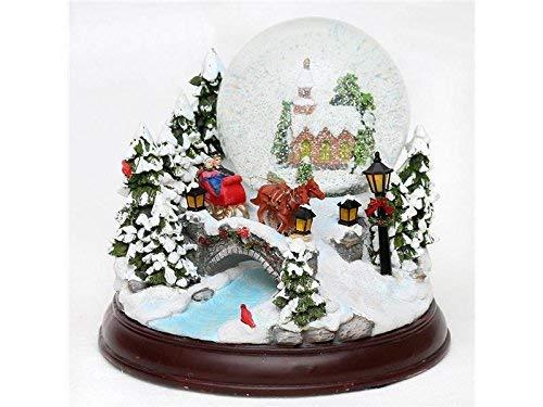 Unbekannt Sigro Snow Globe mit Sound Licht und elektronischer Snowstorm, Mehrfarbig, 23x 19cm -