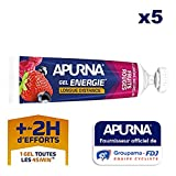 APURNA - GEL ENERGIE Longue distance FRUITS ROUGES - Energisant - Made in France -...