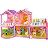 Toyshine DIY 127 Pcs Doll House Creative Edition, Accessories Included