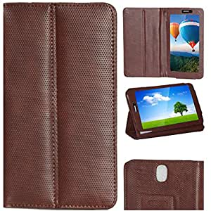 Zaoma Diary Stand Flip Flap Case Cover For IBALL SLIDE 3G Q45i Stand Flip Case Cover - Brown