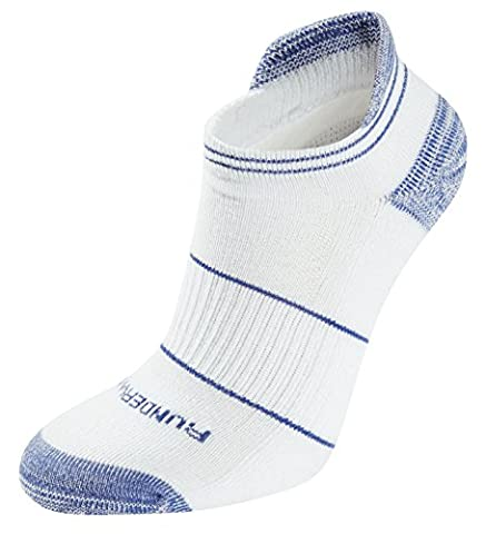 Runderwear respirant Anti-ampoule Taille basse Chaussettes, mixte, Breathable Anti-Blister Low-Rise, bleu/blanc, Large/Size Uk 9 - 11.5