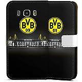 Samsung Galaxy J5 (2016) Flip Tasche Schutz Hülle Walletcase Bookstyle Borussia Dortmund BVB Stadion