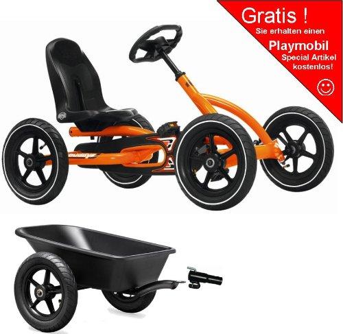 Preisvergleich Produktbild Berg Gokart, Buddy Junior orange inkl. AHK und Anhänger.Playmobil Special Gratis