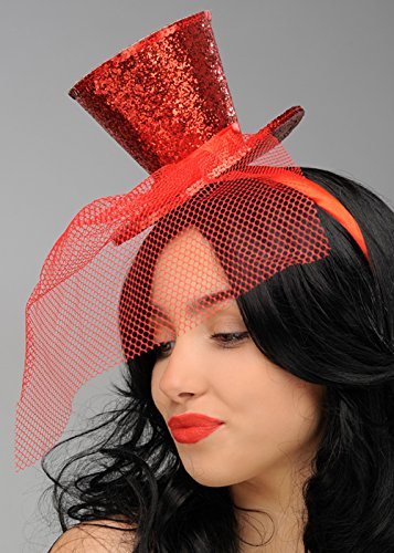 Glitter Mini Zylinder (Rot Mini Glitter Top Hat)