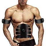 Entrenador de ABS, Welltop estimulador muscular EMS, 6 modos 10 niveles de tóner muscular, USB recargable Brazo abdominal Pierna AB Cinturón de entrenamiento para hombres Mujeres Ejercicio o masaje para quemar grasa