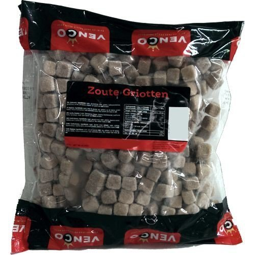 Preisvergleich Produktbild Venco Holland Lakritze 'Zoute Griotten' 1kg Packung (Salmiak-Würfel)