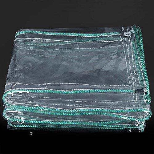 Zeltplane Hickenened Regenfeste Tuch Transparente Plane Wasserdichte Balkon Regen Vorhang Sonnenschutz PVC Kunststoff Tuch-600g / m² (größe : 2×2M)