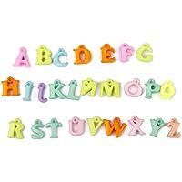 N.100 Pendente Lettere Alfabeto Acrilico Ciondolo Bigiotteria Colore Misto