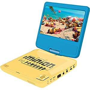 Minions GRU-Lector DVD portátil con Puerto USB y Mando, giratoria, Pantalla 17,78 cm (Lexibook DVDP6DES), 30 x 25.9 x 14 cm (