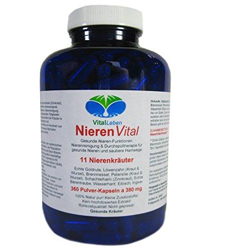 Nieren Vital, 11 Nierenkräuter, 360 Pulver-Kapseln a 380mg, #25487