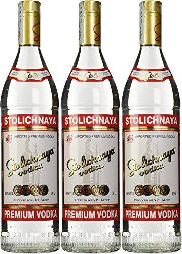 Stolichnaya Vodka 40% (3 x 1 l)