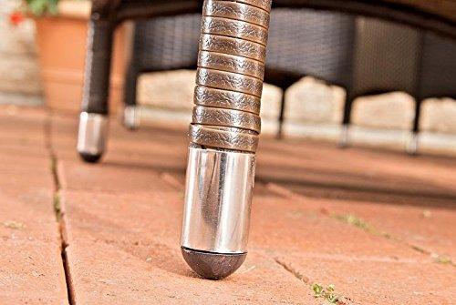 CLP Polyrattan-Gartenstuhl JULIA mit robustem Untergestell aus Aluminium