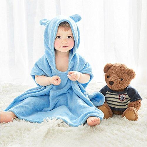 Super Weiche Mädchen-bademantel (Baby Kapuzenbadetuch Kinder Mädchen Bademantel Baumwolle Tier Badetücher, Super weiches neugeborenes Tuch,Perfekt als Geschenk für Neugeborene.)