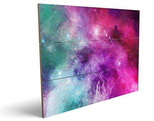 Das etwas andere Farbenspiel, qualitatives MDF-Holzbild im Drei-Brett-Design mit hochwertigem und ökologischem UV-Druck Format: 100x70cm, hervorragend als Wanddekoration für Ihr Büro oder Zimmer, ein Hingucker, kein Leinwand-Bild oder Gemälde
