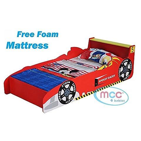 Autobett, Rennauto Bett, Kinderbett, von MCC in einem coolen