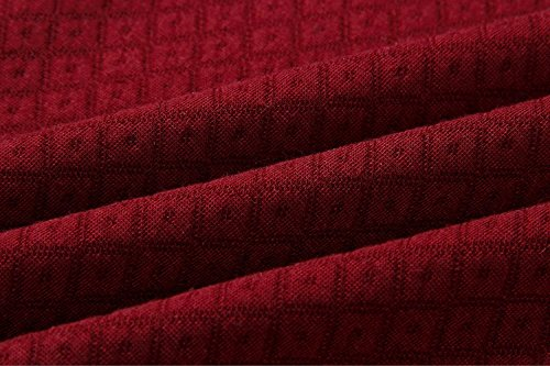 AHOOME Damen Hoodies Sweatshirt Top Langarm Reißverschluss Rollkragen Kapuzenpullover Pullover Outerwear Kapuzenpulli Weinrot