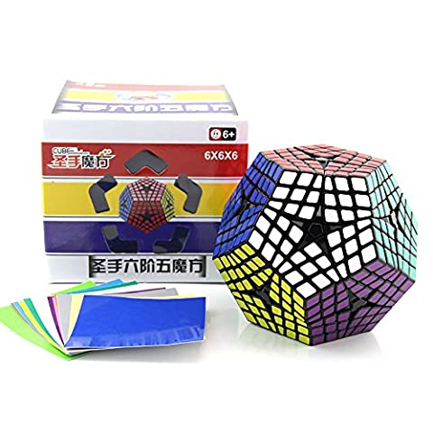 Newest Shengshou Elite Teraminx Cube 6x6 Megaminx Magic Cube Puzzle Learning&Educational Cubo magico Toy as a gift | Dingze (noir)