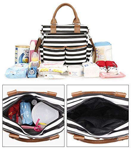 11e6abd539 Robustrion Stylish Waterproof Multifunctional Diaper Bag for Mothers for  Travel Nappy Tote Diaper Bag Large Size
